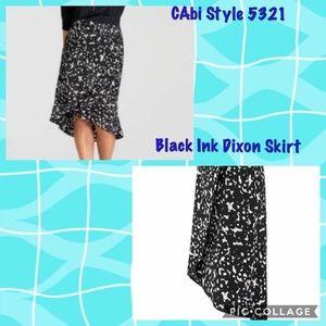 CAbi Dixon Skirt Black & White Floral M Style 5321